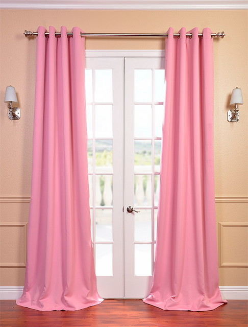 Light Pink Curtains Precious pink grommet blackout