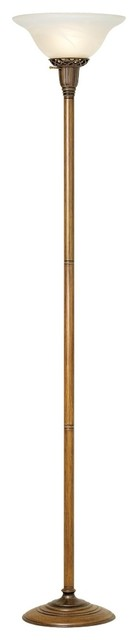 Traditional Alabaster Glass Torchiere Floor Lamp traditional-floor-lamps