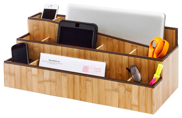 Desktop charging station and organizer contemporary - Designer desk accessories and organizers ...