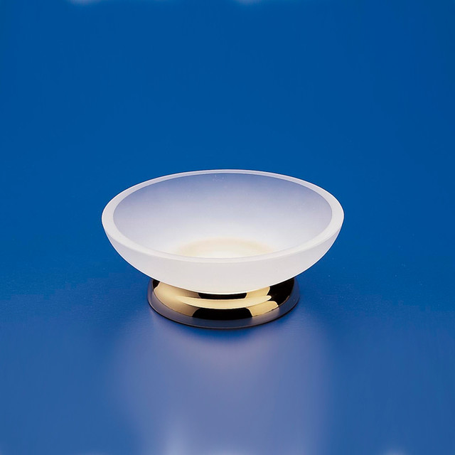 Frosted Glass Free Standing Chrome Soap Dish - Contemporary - Soap Dishes & Holders - other ...
