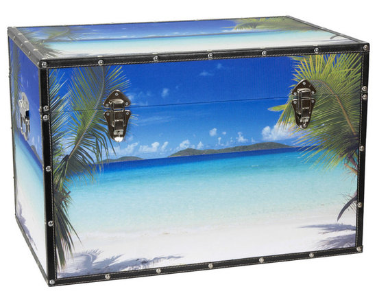 Art Print Ocean Beach Storage Trunk -