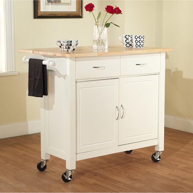Mobile Island For Kitchen: White Mobile Kitchen Cart