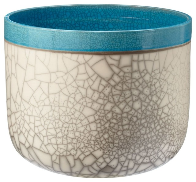 Lazy susan 142010 blue surf fish bowl contemporary for Decorative fish bowls