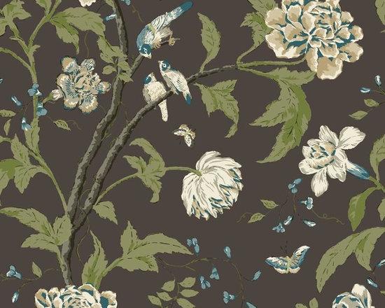 Dark Teahouse Floral Vibe Wallpaper -