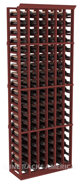 6 Column Standard Cellar Rack in Redwood with Cherry Stain traditional-wine-racks