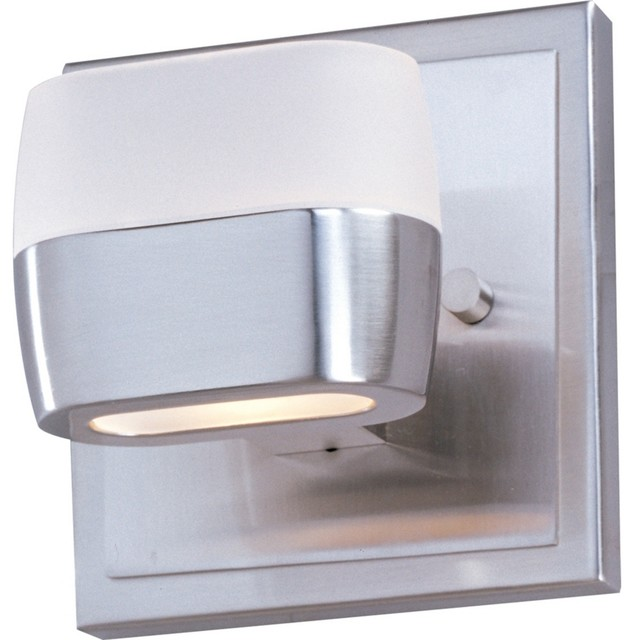 "ET2 Ellipse Satin Nickel 5"" High Wall Sconce contemporary-wall-lighting"
