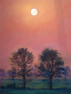 Full Moon Ii (Original) by Sabrina Zhou contemporary-mixed-media-art