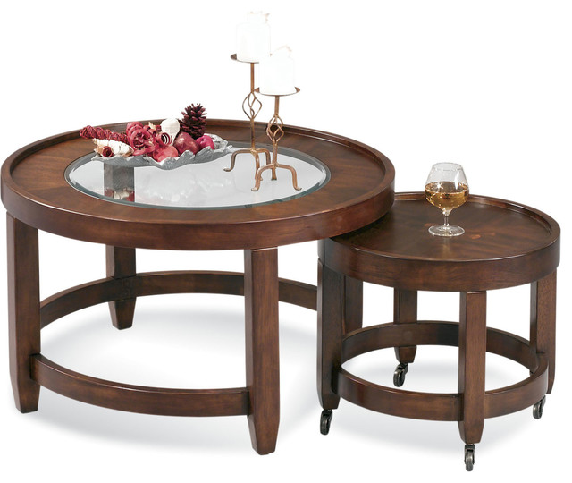 Modular mates round cocktail table contemporary coffee for Modular coffee table