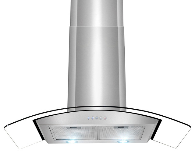 "AKDY AK-Z668A Euro Stainless Steel Wall Mount Range Hood, 30"" modern-range-hoods-and-vents"
