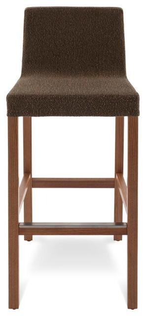 Blu Dot Knicker Barstool, Dark Roast modern-bar-stools-and-counter-stools