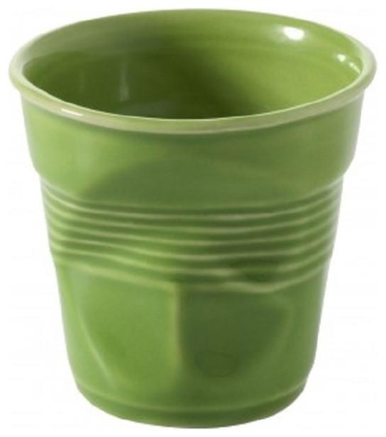 Revol Porcelain Froisses Espresso Crumple Tumbler contemporary-mugs