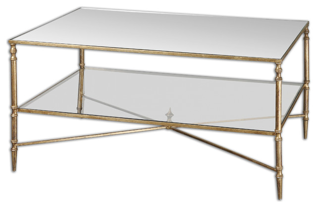 Mirror Coffee Table : Henzler Mirrored Glass Coffee Table - Traditional - Coffee Tables - by ...