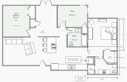 Garage To Master Bedroom Conversion Feedback Please: garage conversion floor plans