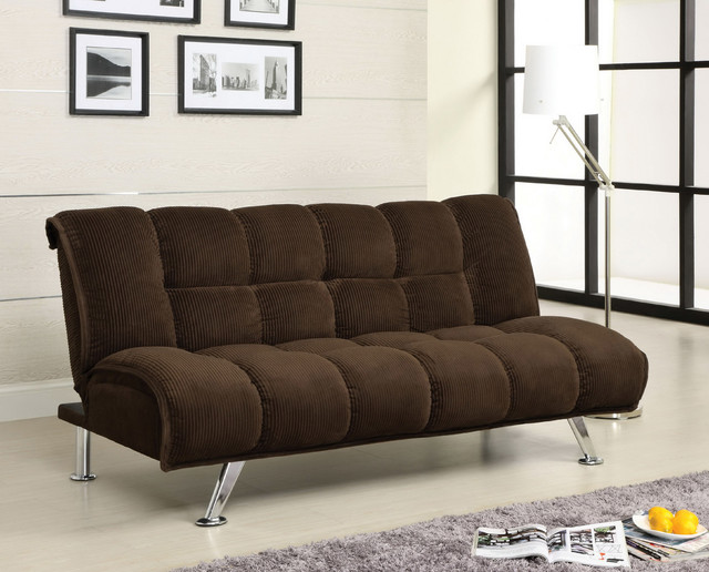 Furniture of America Maybeline Padded Corduroy Futon