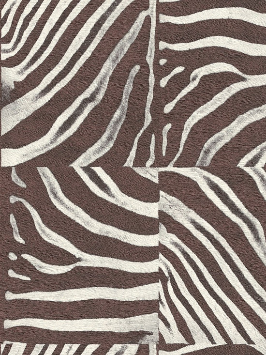 African Queen - Fill your walls with the life and vibrant textures of this faux zebra-print wallpaper. From the book African Queen at AmericanBlinds.com