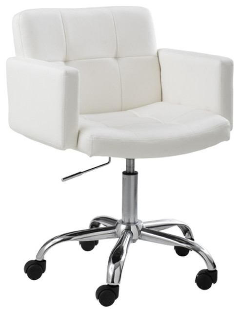 Churchill Office Chair, White - Modern - Office Chairs - by Inmod