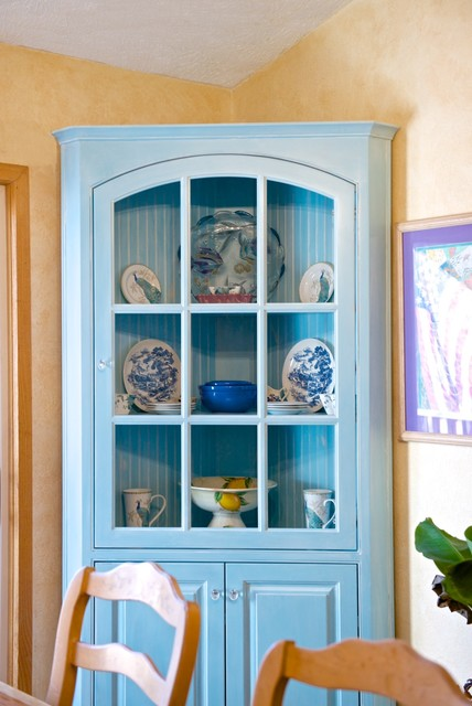 ... White Glaze Corner China Cabinets eclectic-china-cabinets-and-hutches