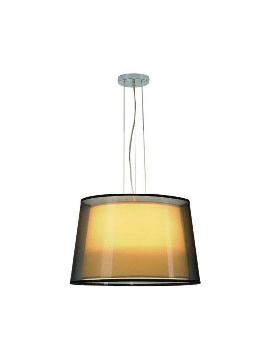 SLV Lighting - SLV Lighting | Bishade PD-1 Pendant Light - Design by SLV Lighting.The Bishade PD-1 Pendant Light composes two separate shades into a harmonious design. With a white interior shade and a black exterior one opposites come together to form this unique light fixture. Provides a soft diffused light, ambient light, and direct lighting.
