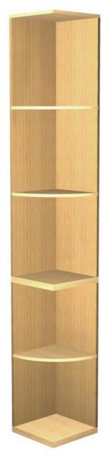 "EcoWineracks Quarter Round Shelf - 94.96"" High, Golden Color, Clear Acrylic Fini traditional-wine-racks"