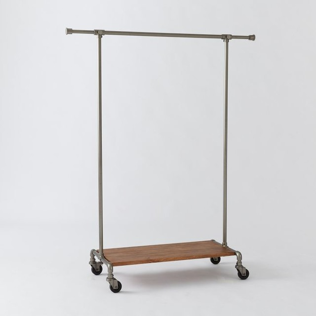 Pipeline Clothing Rack Contemporary Clothes Racks By West Elm