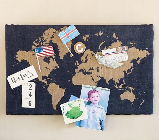 Map Pin Board - Contemporary - Bulletin Board - by Pottery Barn Kids