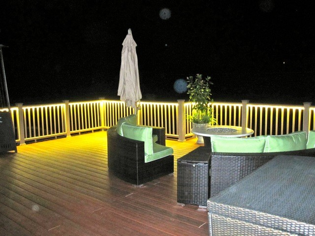 Rope Lights Outdoor Deck : Deck and Balcony Design with LED Lighting - Traditional - Porch - san diego - by ...