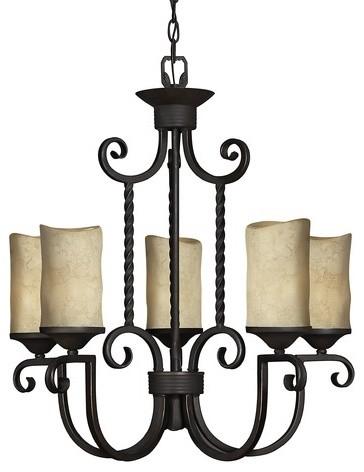 Casa 5 Light Chandelier modern-chandeliers
