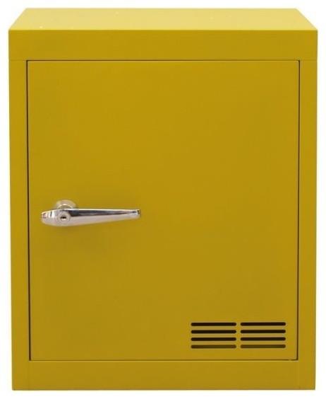 Stack-E Metal Cabinet 1 Door, Vintage Yellow - Contemporary - Storage Cabinets