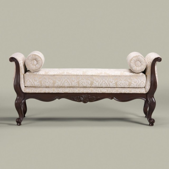 Belfiore bench traditional upholstered benches by ethan allen - Benches for bedrooms ...