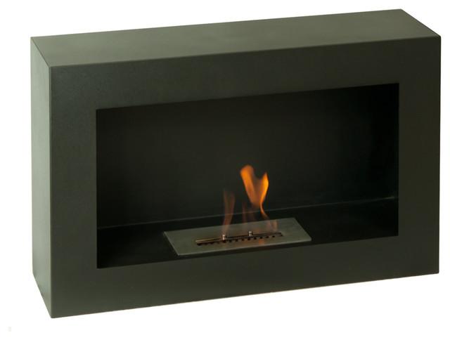 Spectrum Freestanding Ventless Ethanol Fireplace contemporary-fireplaces
