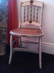 Super Shabby Chic Cane Chair by swellsisters on Etsy