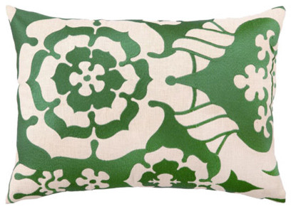 DL Rhein English Rose Embroidered Pillow contemporary-decorative-pillows