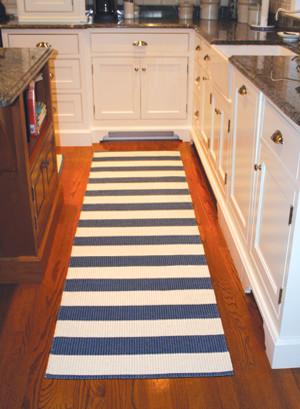 Darlarna Lina Navy Blue Stripe Rug contemporary-rugs