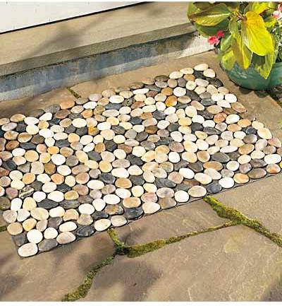 River Rock Floor Mat contemporary-doormats