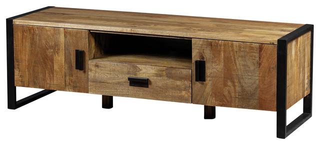 Delia TV Unit Made of Mango Wood - Industrial - Media Storage - by Artemano