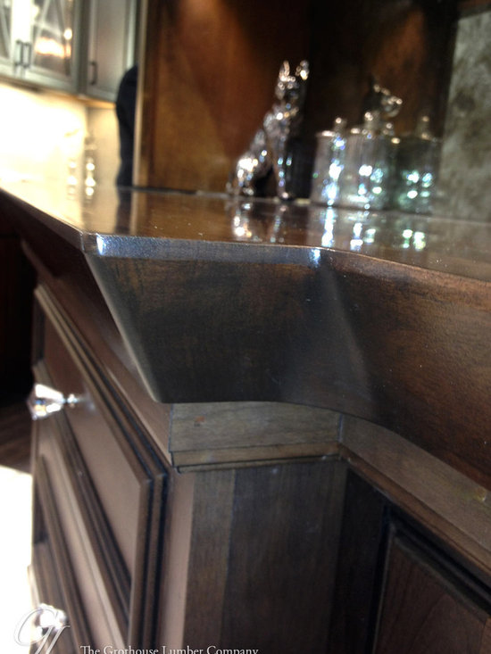 Stained Cherry Wood Countertop featured in the Elkay Booth at KBIS 2014 -