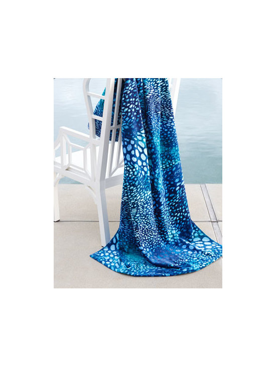 "Natori - Natori ""Perlas"" Beach Towel - Swirls of abstract spots in variegated shades of blue add cool appeal to this beach towel with its perfect balance of comfort, quality, and durability for the beach, pool, and beyond. Made of cotton. Machine wash. 40"" x 70"" Imported."