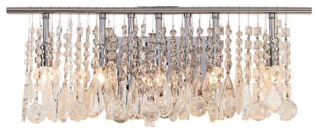 Crystal Luminous Collection Crystal Five Light Bathroom Fixture ...