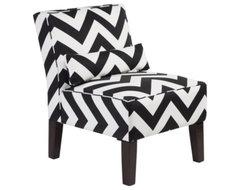 Bailey Accent Chair - Chevron modern-chairs