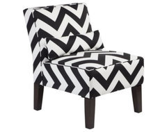 Bailey Accent Chair - Chevron modern-living-room-chairs