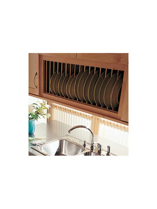 Wall Plate Rack - A Wall Plate Rack is a great way to show off the pattern on your dishes and carry the woodwork of your cabinets to more places. It also makes it easy to set the table and put away clean dishes.