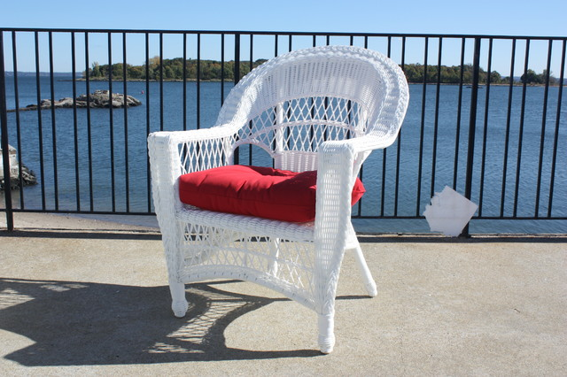 Cape Cod Outdoor Wicker Chair traditional-furniture
