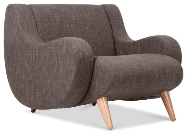 Wimbledon Grey Brown Arm Chair Modern Armchairs And