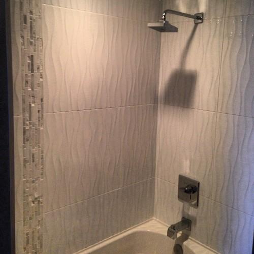 white wavy tile