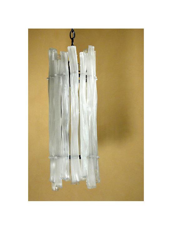 Elizabeth Lyons Glass Stick Chandelier -