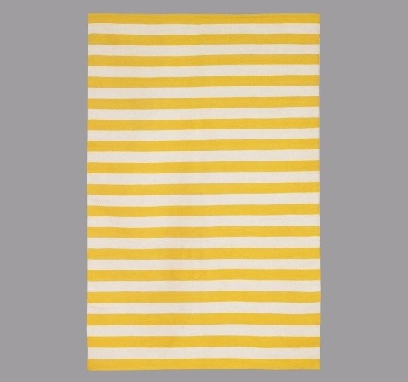 dwellstudio draper stripe citrine cream rug modern children 39 s rugs