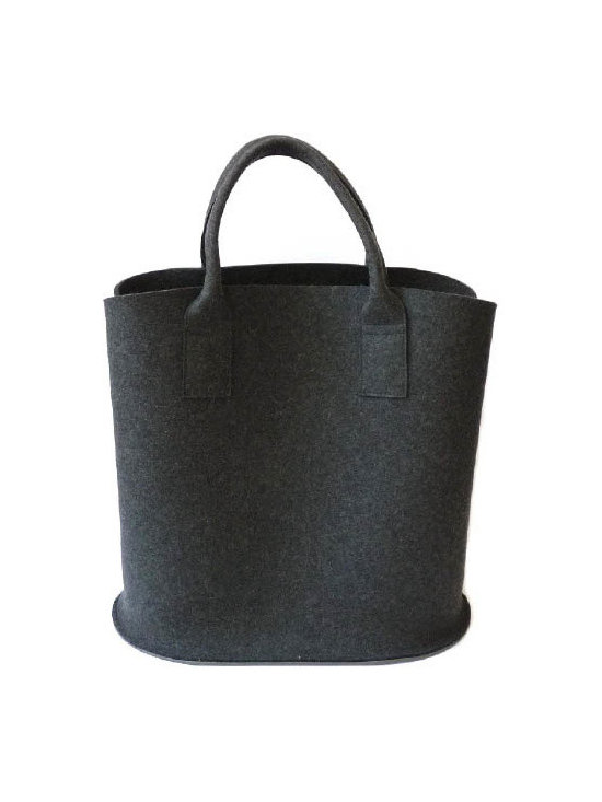 Merino wool felt woody bag - Made in Germany, Daff has produced a felt collection of modern trendy designs made of 100% pure Merino wool.