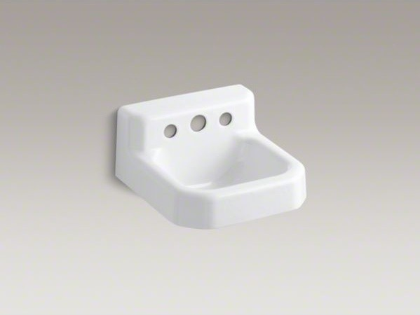 Kohler trailer tm 13 x 13 cast iron wall mount bathroom sink contemporary bathroom sinks Kohler cast iron bathroom sink