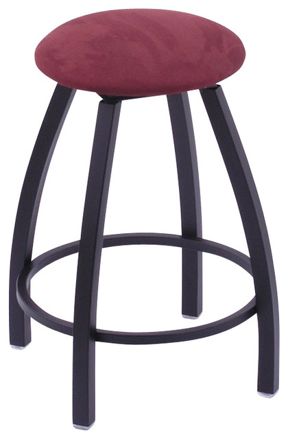Misha 25 High Upholstered Seat Round Backless Swivel