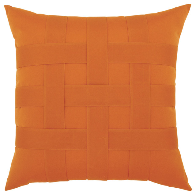 Elaine Smith Basketweave Tuscan Pillow - Modern - Outdoor Cushions And Pillows - by Elaine Smith